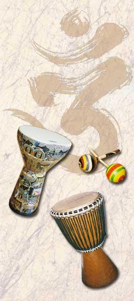 <Drums Rattle Djembe Doumbek>