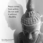 B&W Buddha Quote